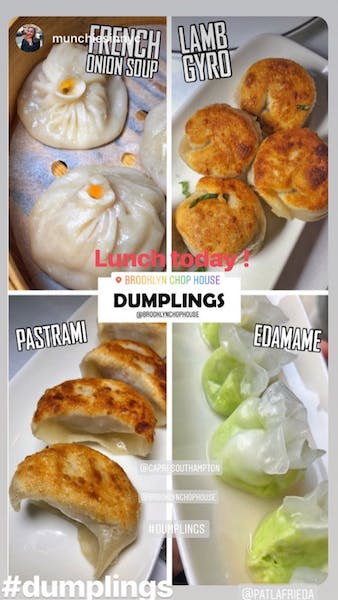 several different types of food