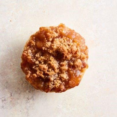 a half eaten doughnut