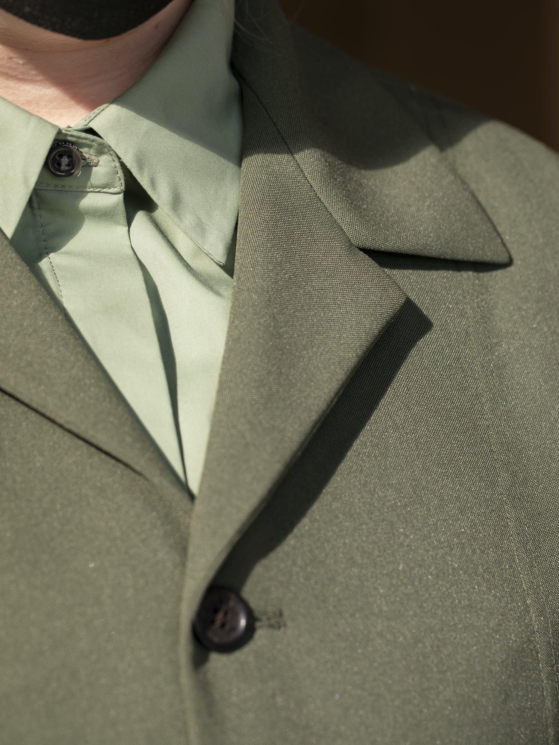 close up image of blazer lapel