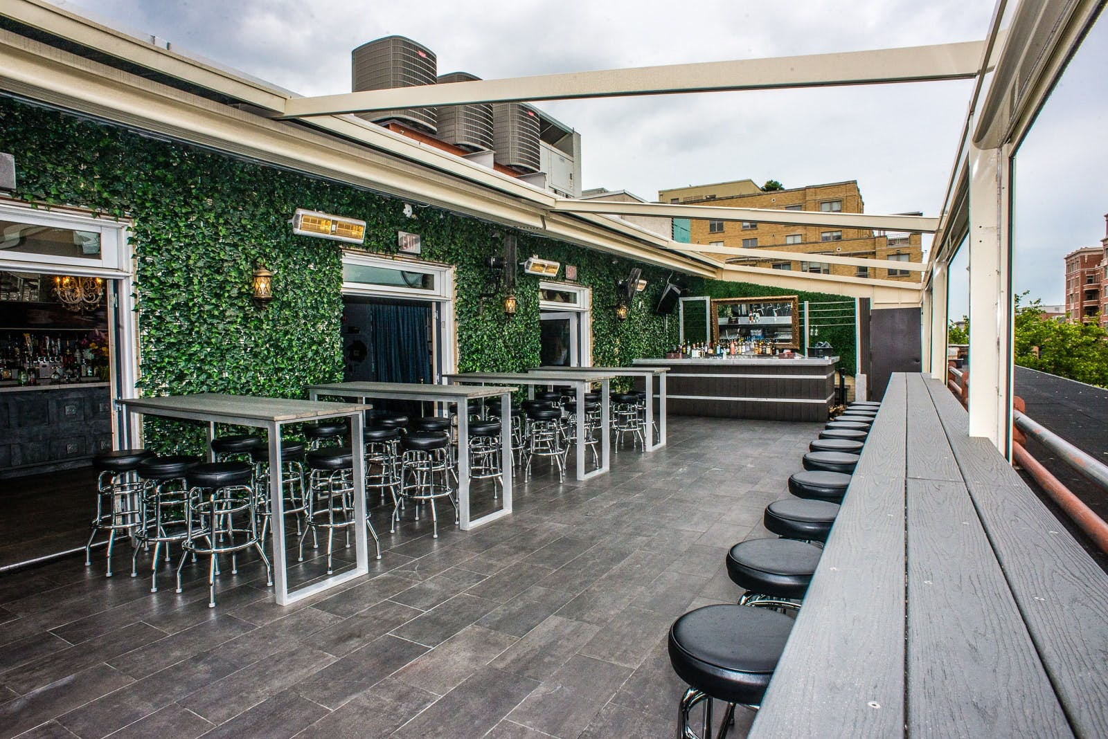 Lost Society Heated Rooftop Deck Bar Restaurant In