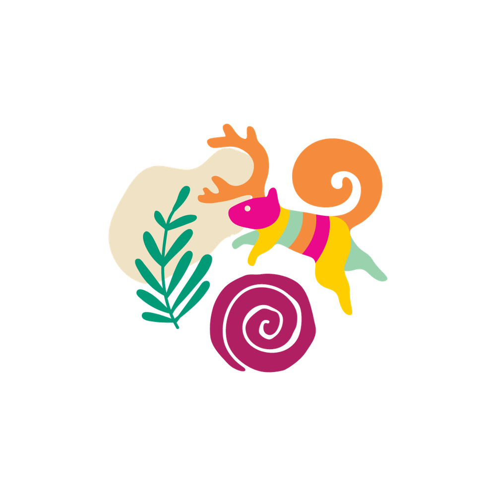 drawing of a squirrel jumping