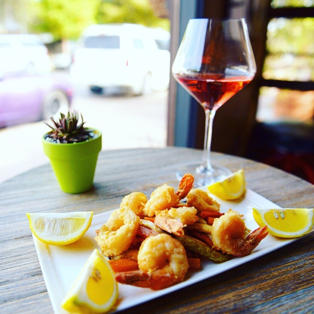 italian shrimp and wine