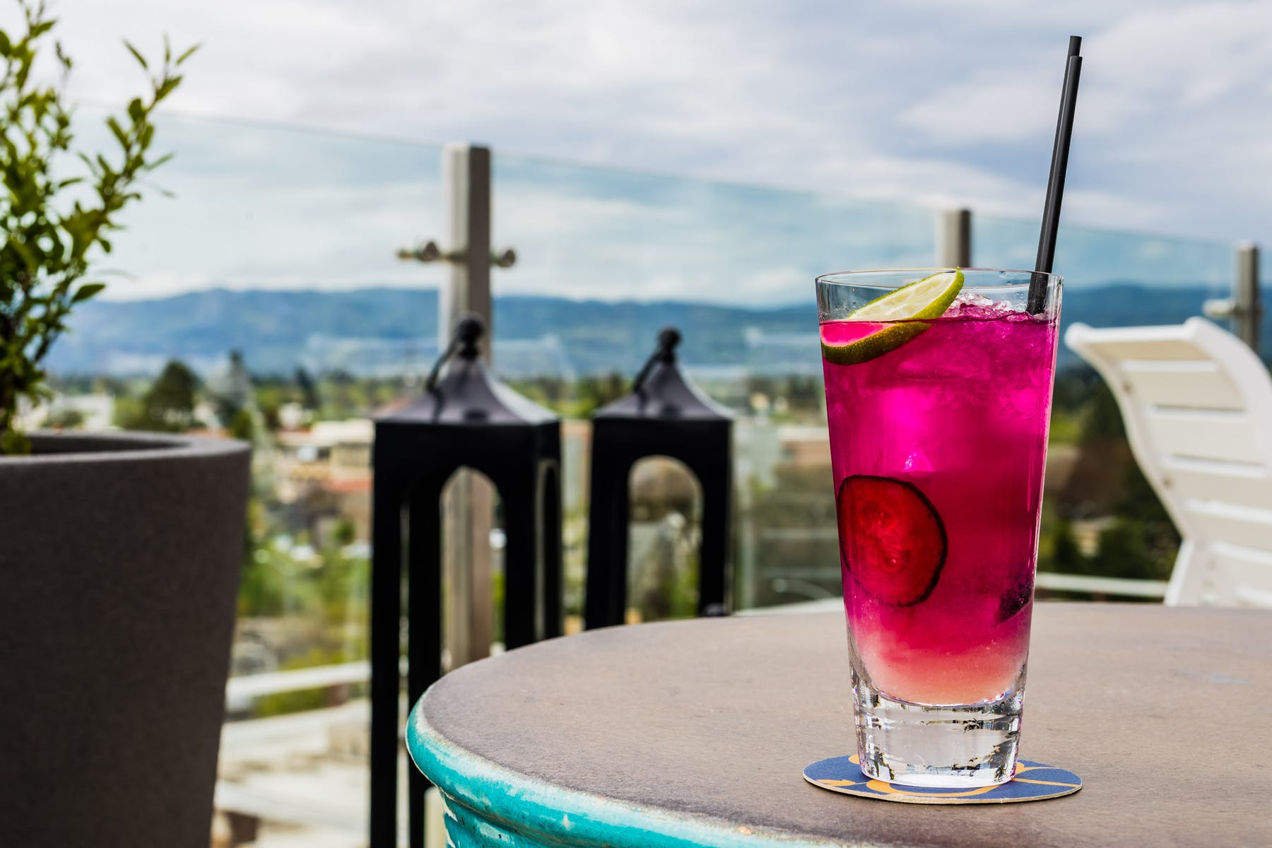 cocktail on a table