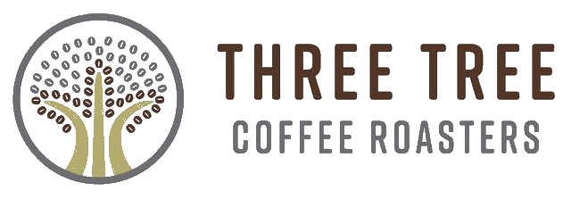 a logo of a tree diplaying three tree coffee roasters