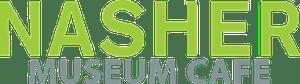 a close up of a logo Nasher