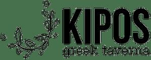 a close up of a logo of Kipos Greek Tavern