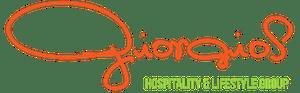 a close up of a logo of Giorgio's Hospitality Group