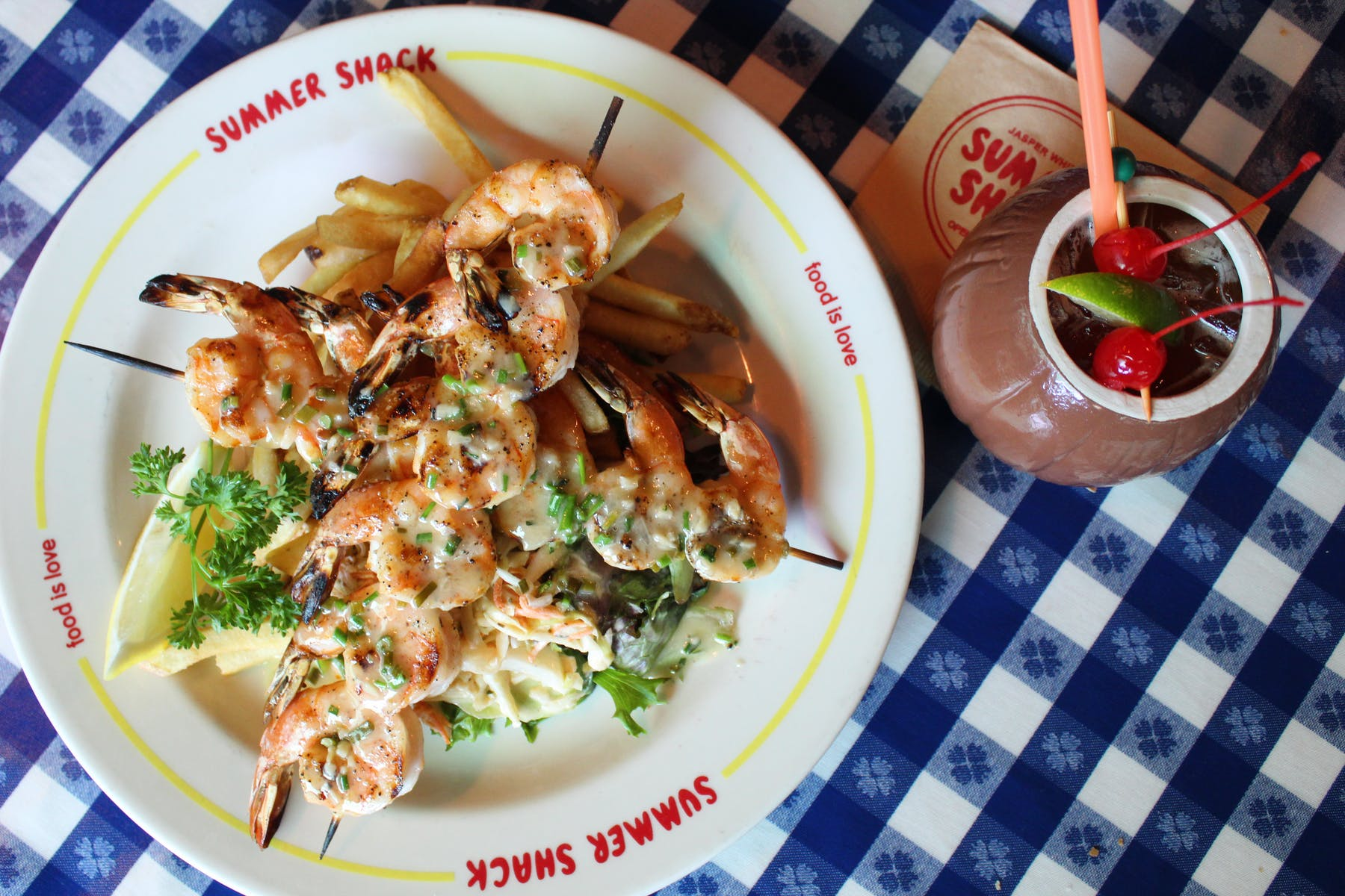 a seafood plate