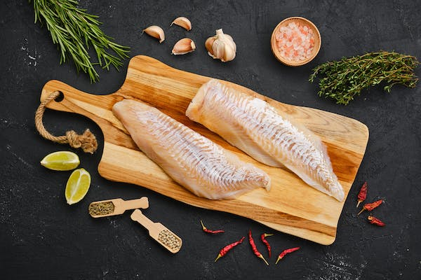 a piece of haddock ready to be prepared
