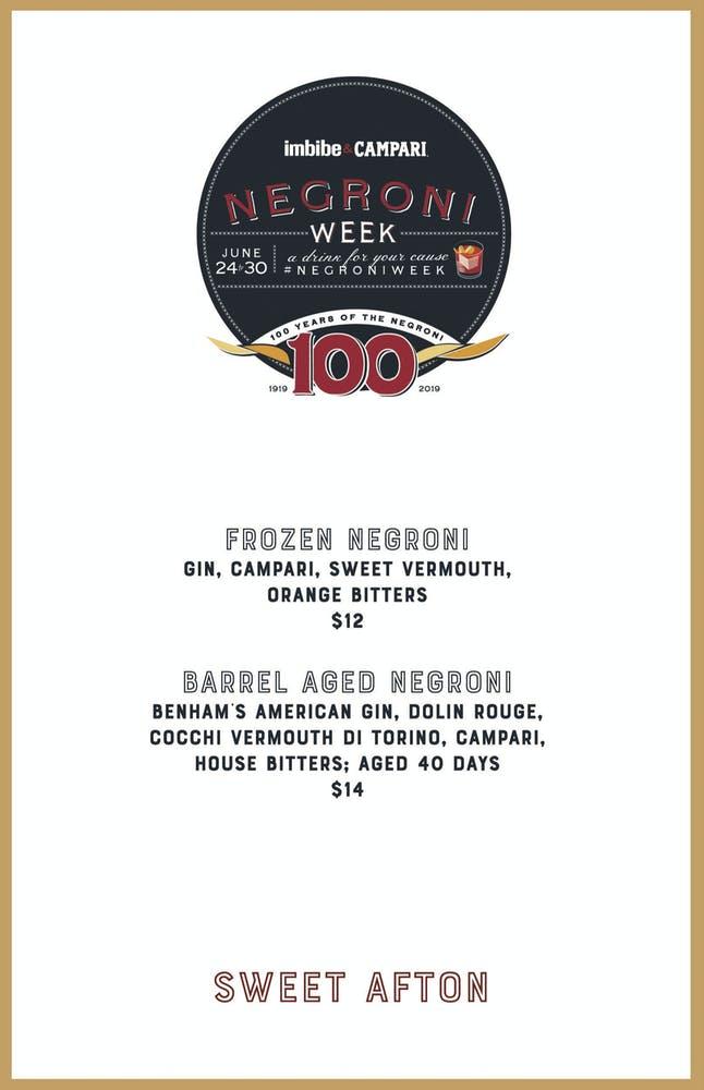 Negroni Week 6/24-6/30