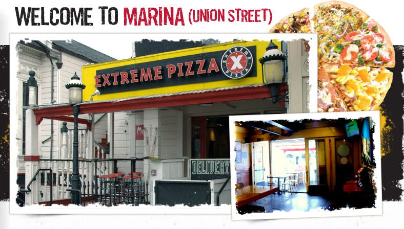 Front of Extreme Pizza Marina