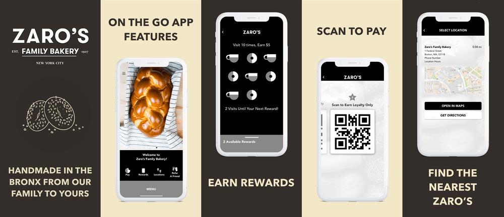 Zaro's mobile app
