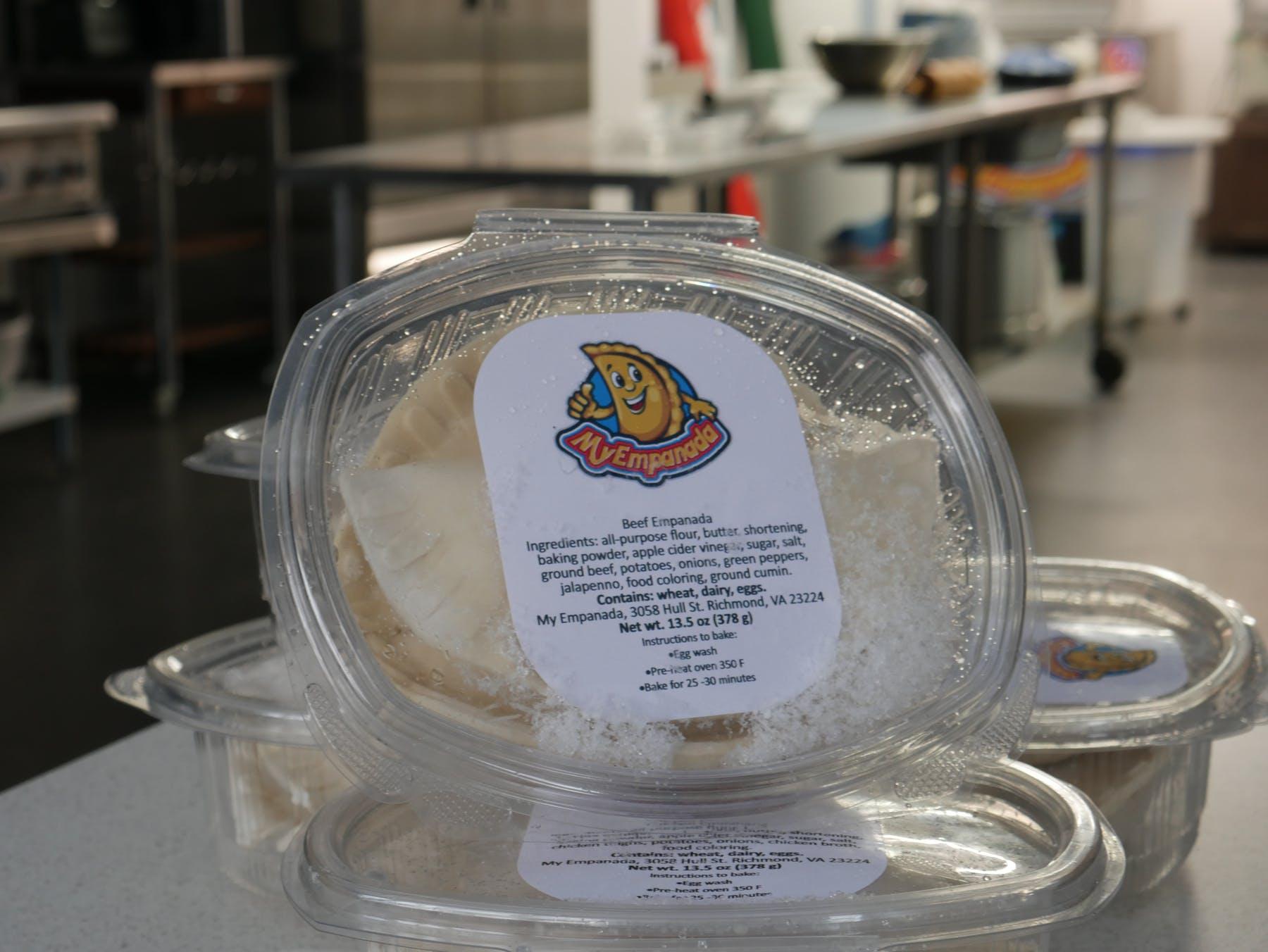 empanadas in a plastic box