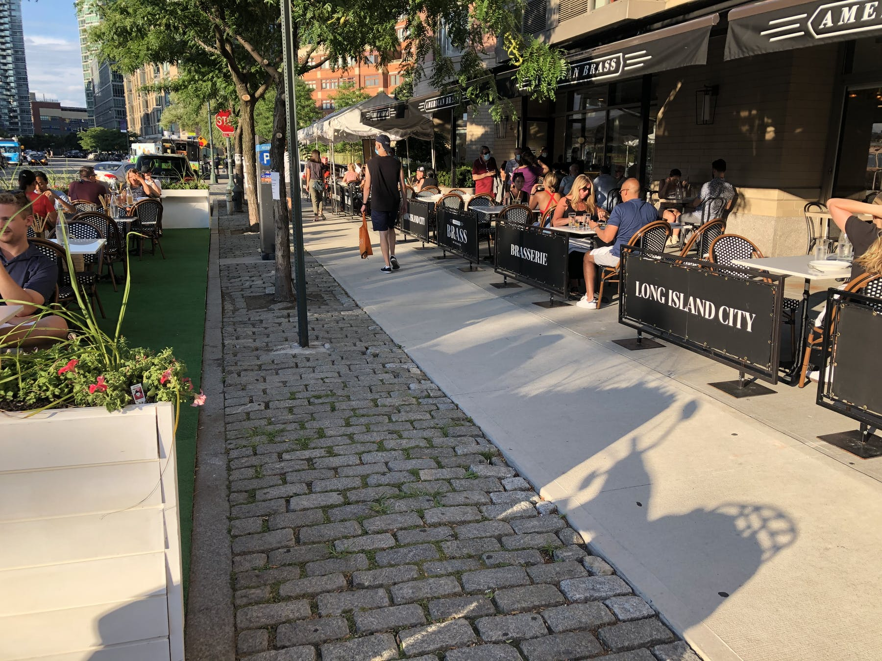 outdoor dining nyc long island city american brass