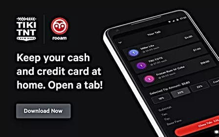 Keep your cash and credit card at home. Open a tab! Download App now.