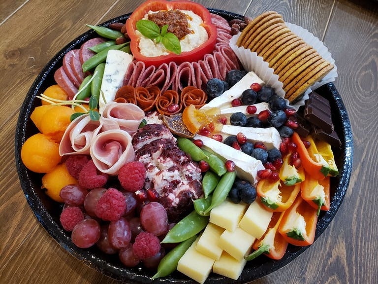 a plate of food on a table