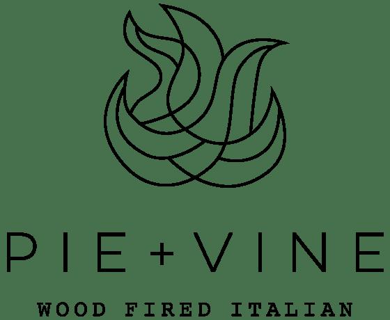 Pie + Vine restaurant logo.