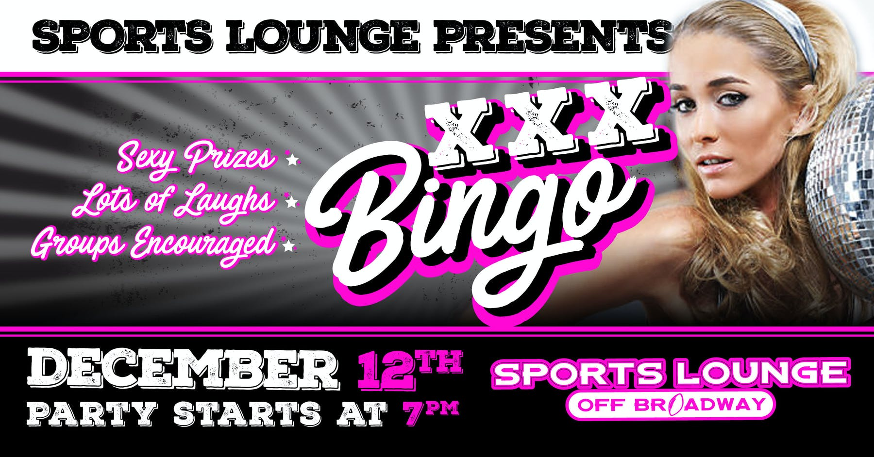 XXX Bingo at Sports Lounge Off Broadway