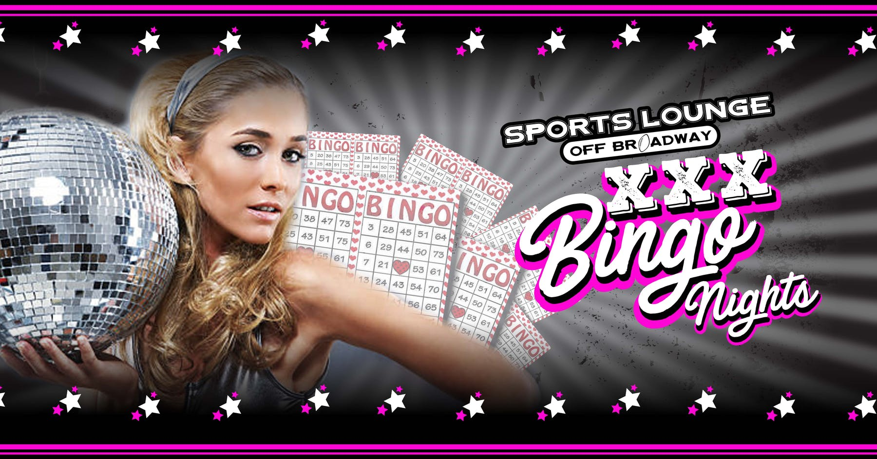 XXX Bingo at Sports Lounge Off Broadway every Thursday Night in Highlands Ranch, Colorado.
