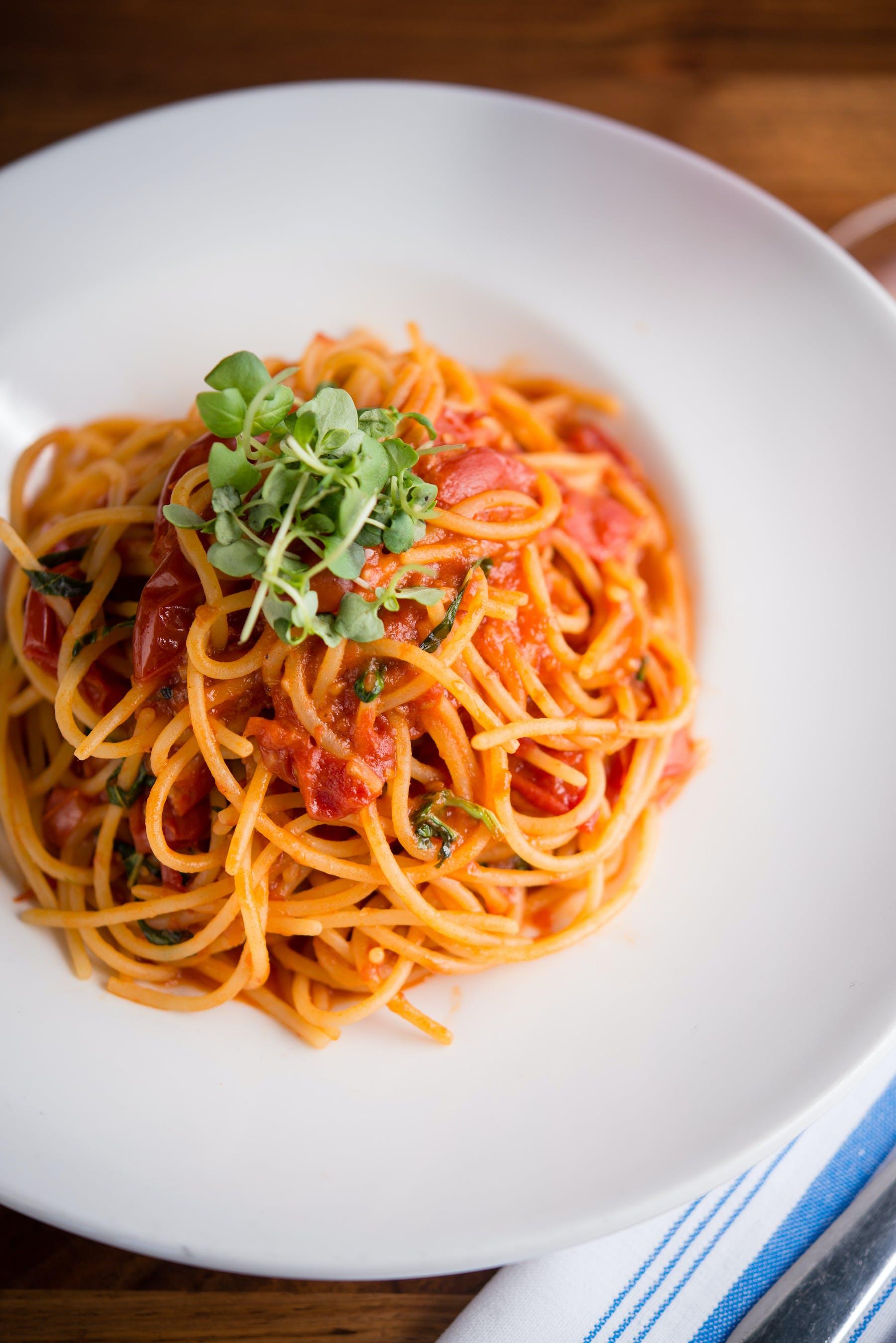 an spaghetti plate