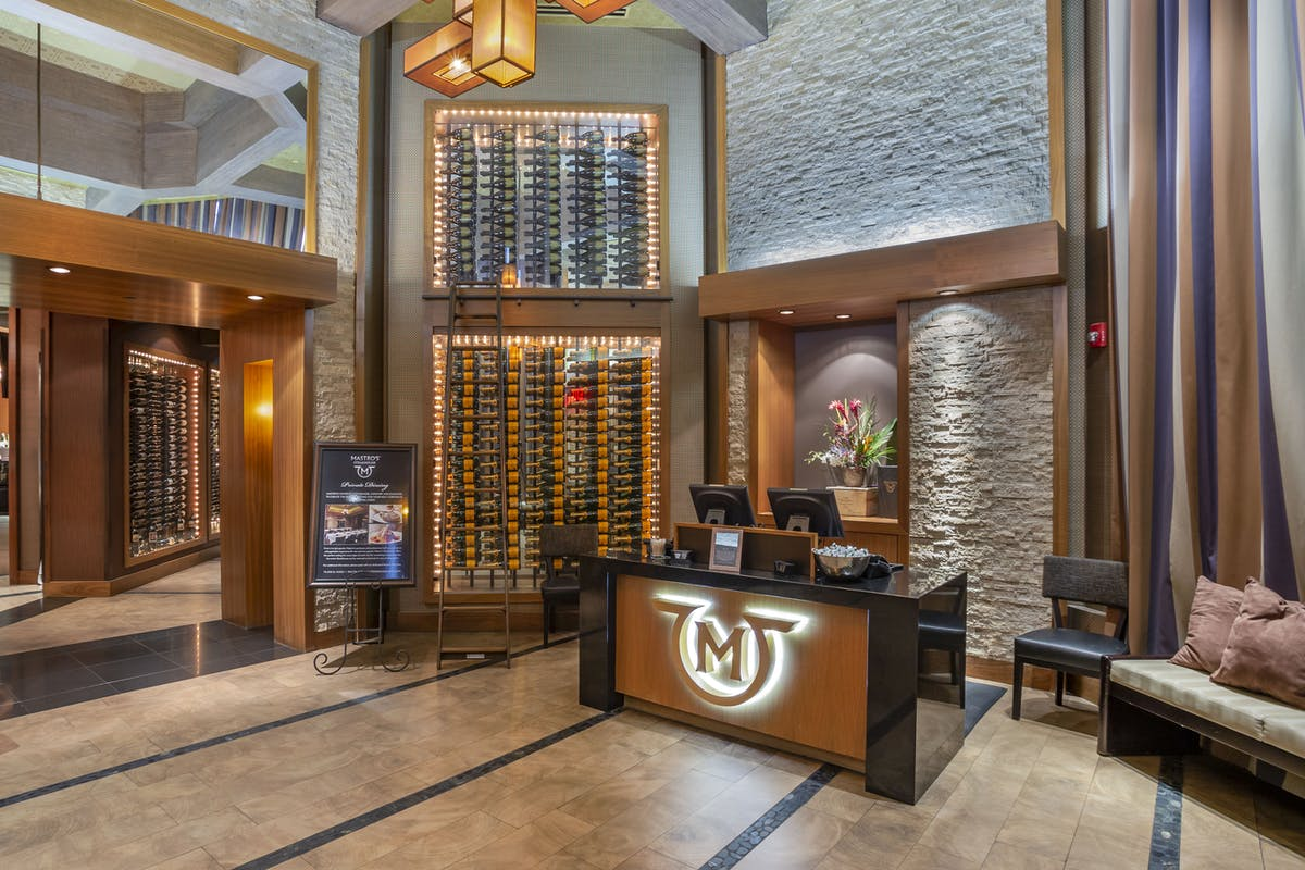 a reception with a wine cellar