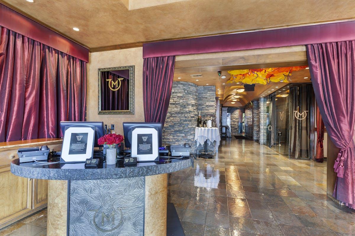 a restaurant's lobby