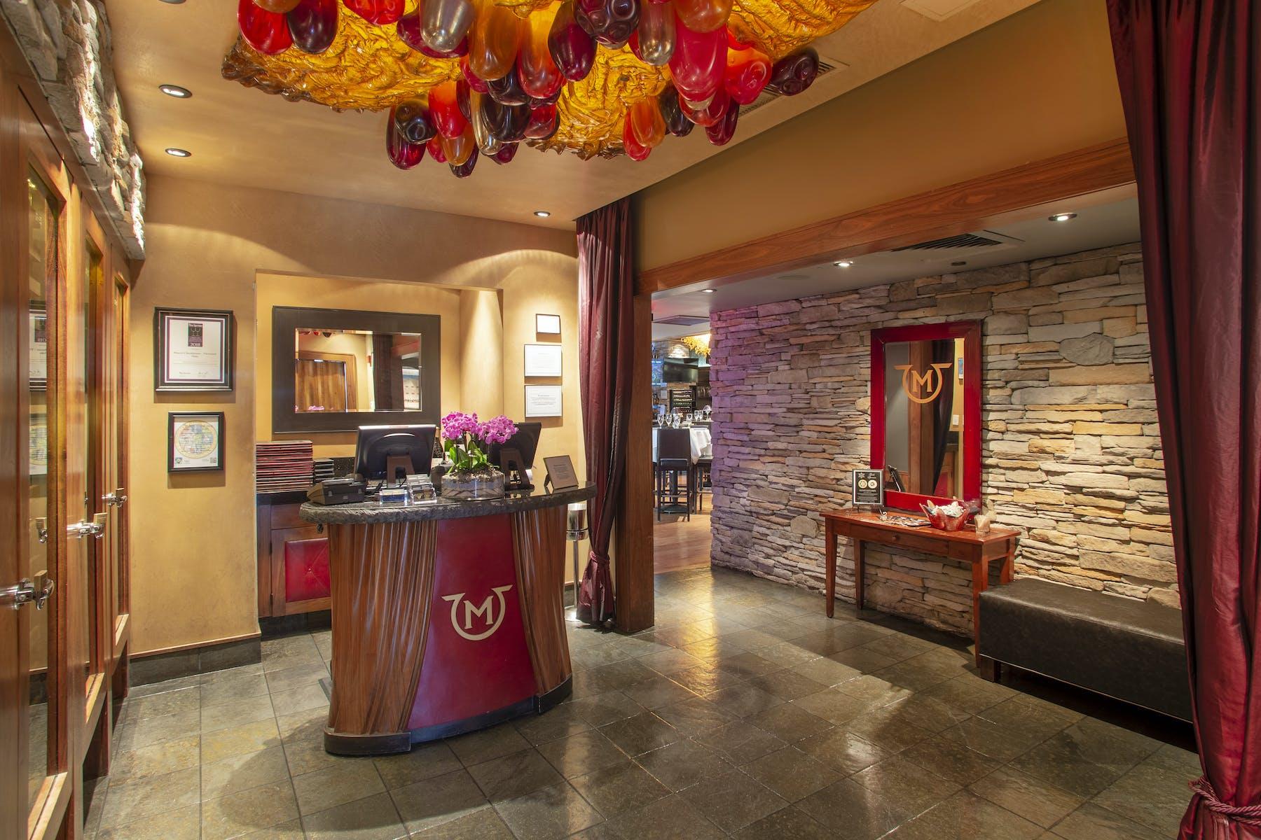 a reception lobby
