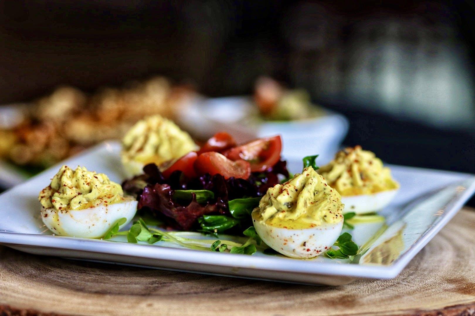 Farm Fresh Deviled Eggs with Black Truffle Sea Salt