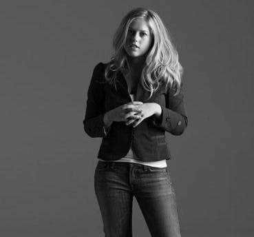 a woman in a black shirt