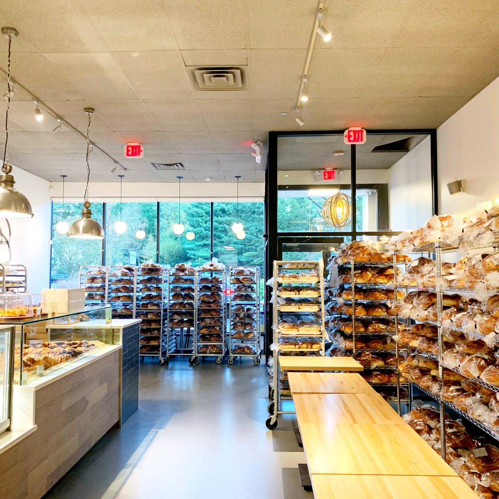 A bakery full of bread.