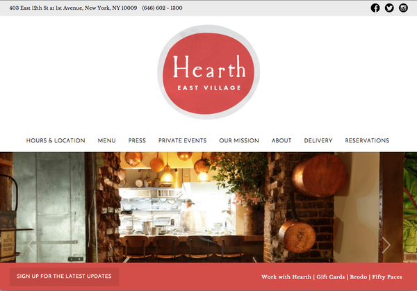 Restaurant Hearth